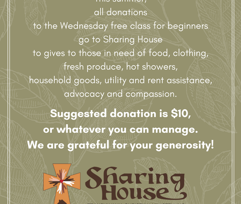 SHARING HOUSE is our charity of the quarter.