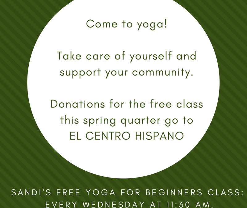 Every Wednesday at 11 am, join us for our free class to benefit EL CENTRO!